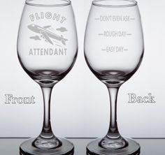 Flight Attendant Wine Glass, Flight Attendant Gift, Glasses for Flight Attendant, Stewardess Wine Glass, Flight Attendants Wine Glasses Gift by LightedBottle on Etsy https://www.etsy.com/listing/267029966/flight-attendant-wine-glass-flight