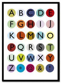 Customized Modernist Dot Alphabet