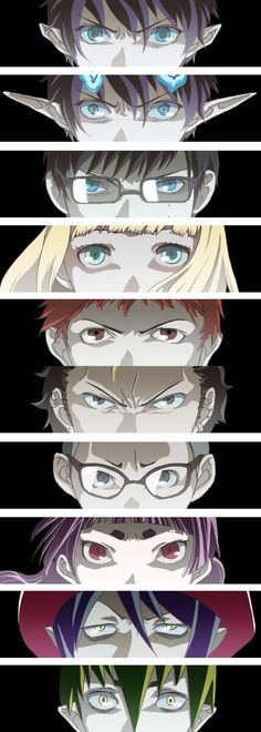 Blue exorcist character's eyes