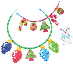 Holiday Jewelry Perler Beads - Fused Bead Kit