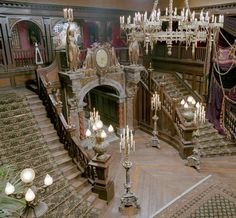 """via~The Macabre And the Beautifully Grotesque    Grand staircase for the set of """"The Haunted Mansion"""",Disney  —"""