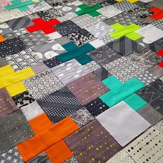 Grays were fun... but I'm ready for some black background #plusblocks for my #tomboyquilt