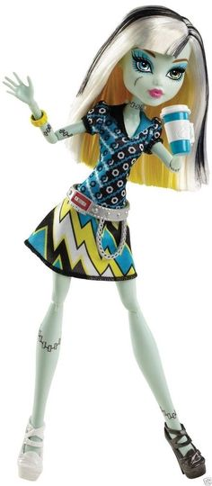 Monster High Frankie Stein Coffin Bean Doll New in Box!! Ships Fast!! BHN04 #Mattel #DollswithClothingAccessories