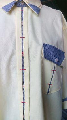 Мужская рубашка, оригинальны воротник, планочка, карман. Красота в деталях