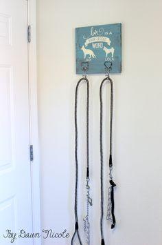 Silhouette Saturday: DIY Dog Leash Holder at bydawnnicole.com