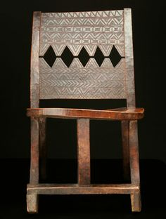 Africa chair from the gurage people of ethiopia wood for Muebles africa