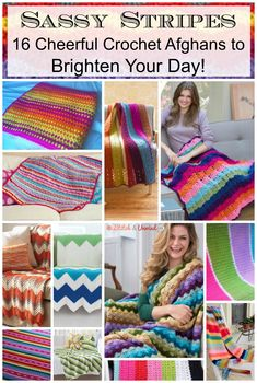 Sassy Stripes: 16 Cheerful Crochet Afghans to Brighten Your Day!