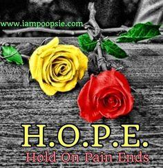 Hope quote via www.IamPoopsie.com