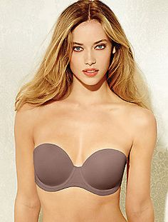9882af6d50a69 Wacoal Red Carpet Strapless Full Figure bra in Cappuccino brown. Sizes 32  D-G