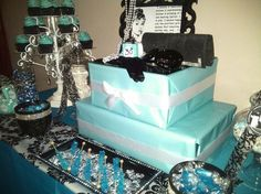 Tiffany Party Treats and Cake #tiffany #party