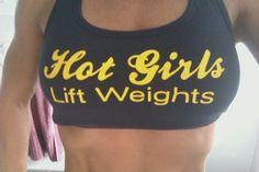 Hot Girls Lift Weights.