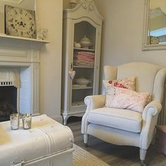 thanks for the , been up since painting just having a quick cuppa in here before I come round to yours ! Kate Forman, Come Round, Room Ideas, Decor Ideas, Painted Furniture, Armchair, Couch, Living Room, Painting