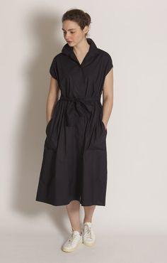 Sofie D'Hoore Drape Belted Dress Midnight - Dresses