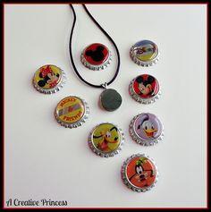 A Creative Princess: Disney bottle cap necklace