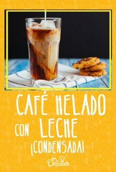 cafe helado casero receta Coffee Break, Coffee Time, Starbucks Recipes, Cafe Bar, Cold Brew, Healthy Nutrition, Milkshake, Oreo, Smoothies
