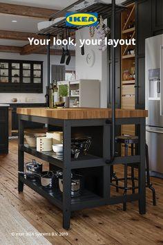 Farmhouse Kitchen Decor, Diy Kitchen, Kitchen Cabinets, Kitchen Ideas, Esstisch Design, Kitchen Furniture, Home Kitchens, Ikea Kitchens, Kitchen Remodel
