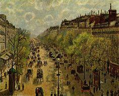 Camille Pissarro「Boulevard Montmartre」(1897)