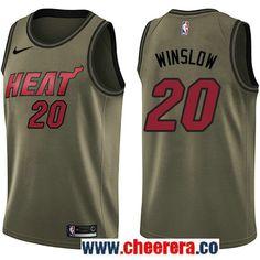 Nike Heat James Johnson Green Salute to Service NBA Swingman Jersey 71ca68ff3