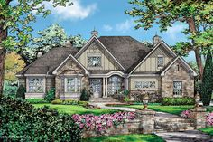 Craftsman Style House Plan - 4 Beds 3.00 Baths 2485 Sq/Ft Plan #929-25 Exterior - Front Elevation - Houseplans.com