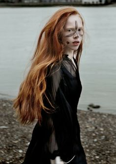"""for-redheads: """" dasha vikhreva in """"the little witch of greenwich"""" by hana knizova for the """" Beautiful Redhead, Beautiful People, Beautiful Women, Red Headed League, Samurai, Long Red Hair, Brown Hair, Ginger Hair, Character Inspiration"""