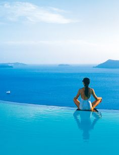 Greek Islands -- any hotel with an infinity pool