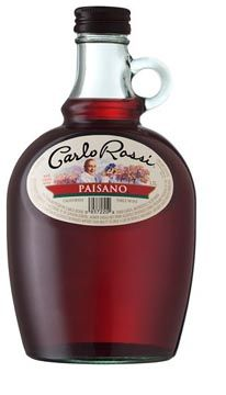 Carlo Rossi cheap red wine - Dad always had a bottle of this under the kitchen sink - lol!