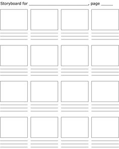 Storyboard Template | STORYBOARD TEMPLATE | Holland LA Stop Motion
