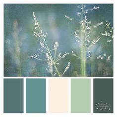 I find this colour combo really lovely and calming.