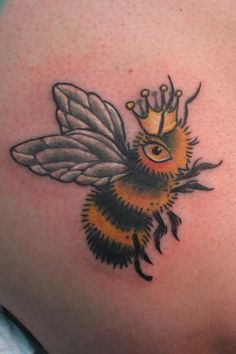 This person loves pollinators in a permanent way! Share the Buzz!  Tattoo by Stacey Martin @ Dovetail Tattoo.