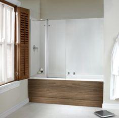 Dualelle wood bath + shower from Utopia Bathrooms. Furniture For You, Wooden Furniture, Furniture Decor, Bath Shower Screens, Wood Bath, Bathrooms, Bathtub, Autumn, Modern