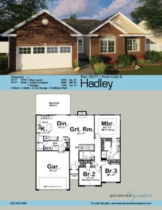 1 Story Traditional House Plan | Hadley