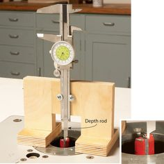 How to use your dial caliper to set exact router bit height on precision height gauge to set the height of a router bitwithin 001 greentooth Images