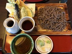 Soba noodles made of