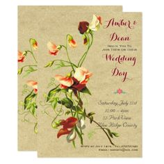 #invitations #wedding #bridalshower - #Rustic SweatPea Botanical Floral Any Occasion Card