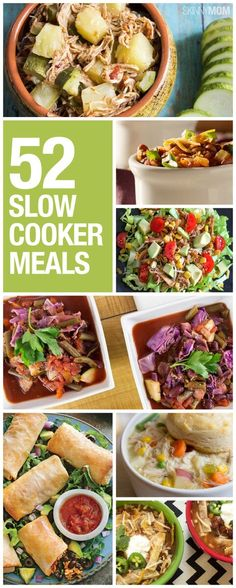 52 slow cooker ideas for any night of the week!
