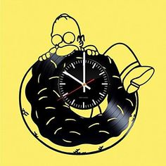 Homer Simpsons Vinyl Record Wall Clock - Get unique kitchen wall decor - Gift ideas for menwomenfriendchildren - Unique movie art design - Leave us a feedback and win your custom clock http://order.sale/nfLf (via Amazon)