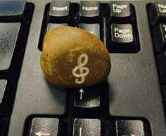 Nota musical - stone carved