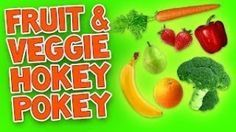 "Hokey Pokey (Fruit & Veggie) with easy printable lyrics. Children will learn the moves to the ""Fruit & Veggie Hokey Pokey"". A healthy twist to an all-time favorite dance song for kids! It promotes healthy food choices through music and movement. This is a great video to include in your theme on health, fitness and nutrition."