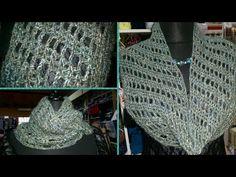 Scaldacollo all'uncinetto molto semplice con punto a sbieco - how to crochet a cowl - YouTube