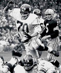 New York Giants' Sam Huff, #70.
