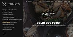 Tomato Restaurant, Cafe, Espresso WordPress Theme