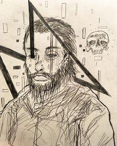 David Choe fan art by @tmshowers