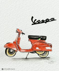 Periodic vehicle maintenance, which is of great importance for driver and passenger safety, has a positive effect not only on safety but also on the performance of the car provided … Vespa Illustration, Watercolor Illustration, Watercolor Paintings, Italy Illustration, Vespa Roller, Vespa Scooters, Scooter Scooter, Motos Vintage, Vespa Italy