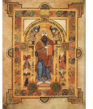 Book-of-Kells-Christ Enthroned