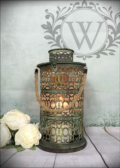 New Large Vintage Lantern Holder Candle Garden Home Antique Tea Light Lamp  #Unbranded