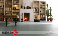 Lay back at home in a comfortable environment by using HORIZON Italian TILE to help design #HIT #Interior #Design