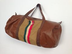 1970s GUCCI Style DUFFLE GYM Bag by HousewifeVintage on Etsy, $46.00