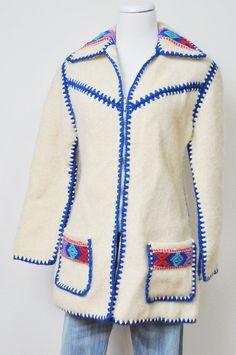 Vintage Jacket All Sweet Wool Hand Stitched ALPINE Sweater