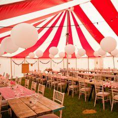 A backyard, carnival-themed wedding