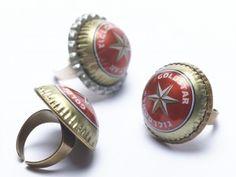 kotik goldstar rings (beer caps)